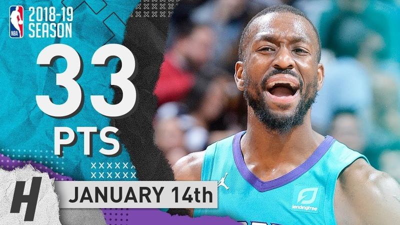 Kemba Walker Full Highlights Hornets vs Spurs 2019.01.14 - 33 Points, SICK!