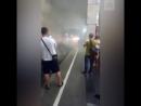 Замыкание контактного рельса в метро