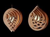 Water Drop Hanging lamp by cardboard Diy Diwali lanther Pendant Hanging lamp