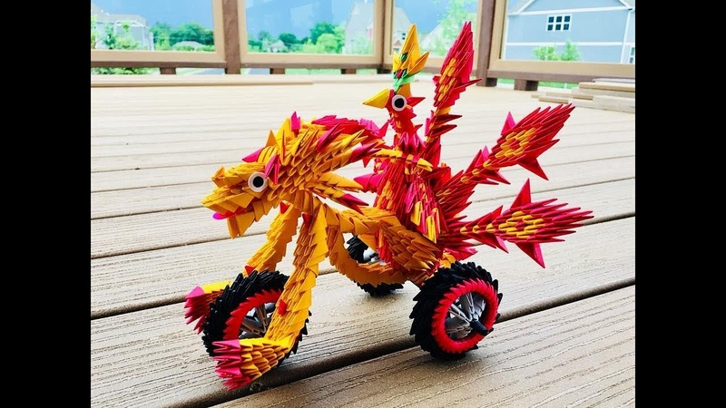 How to Create 3D Origami Dragon and Peacock Wheel