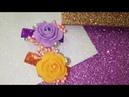 Цветы из фоамирана на заколках