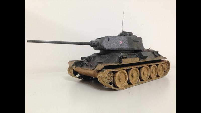 T-34-85 Timelapse Build - 135 Academy Kit