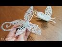HERMOSA LIBELULA EN 3D CON SILICONA CALIENTE para decorar tu navidad