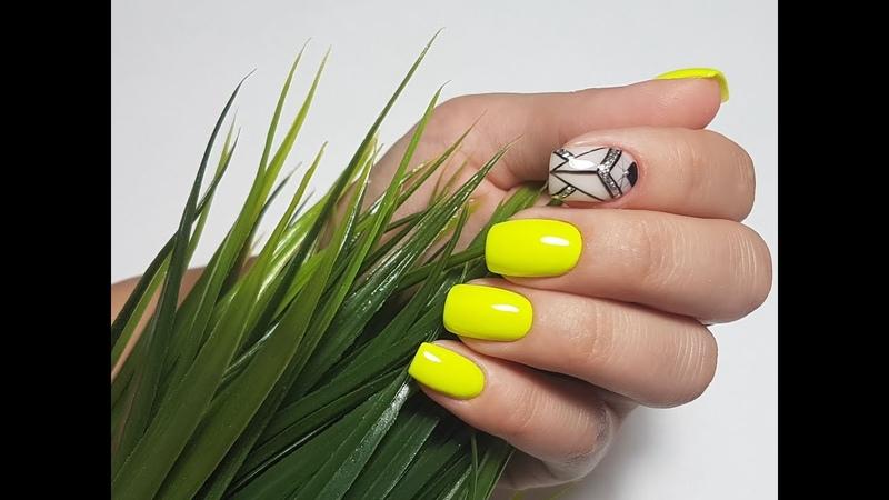 Маникюр на коротких ногтях I Геометрия на ногтях I Летний дизайн ногтей смотреть онлайн без регистрации