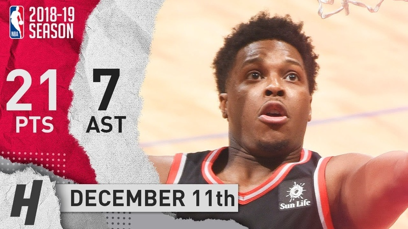 Kyle Lowry Full Highlights Raptors vs Clippers 2018 12 11 21 Pts 7 Ast 5 Rebounds