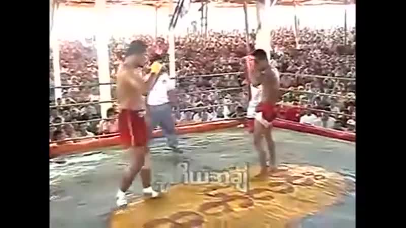 Brutal Burma vs Muay Thai fight no gloves