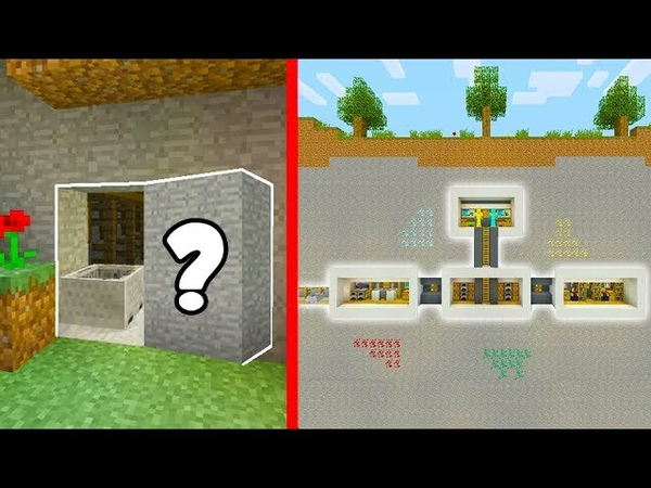 Minecraft Tutorial: How To Build a Hidden Base 4 With a Hidden Entrance