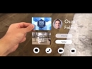 AR Business Card Concept - - I created this it using ARKit 2
