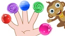 Finger Family of Sweet Lollipops Funny Mango's Treat Time Learn Colors for Kids HooplaKidz