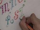 Как писать модные буквы с рисунком - для новичков