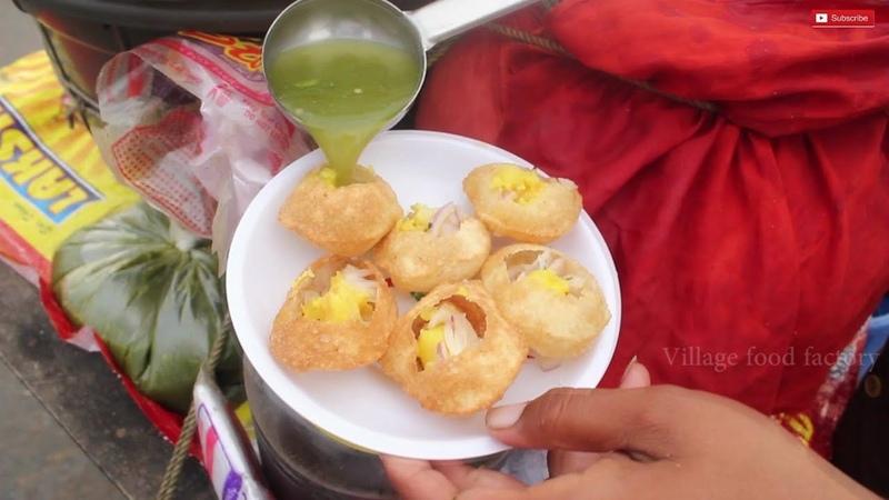 Indian favorite street food Pani puri VILLAGE FOOD FACTORY STREET FOOD