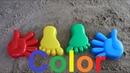 Изучаем цвета на английском языке для маленьких детей играем в песочнице лайки ставим