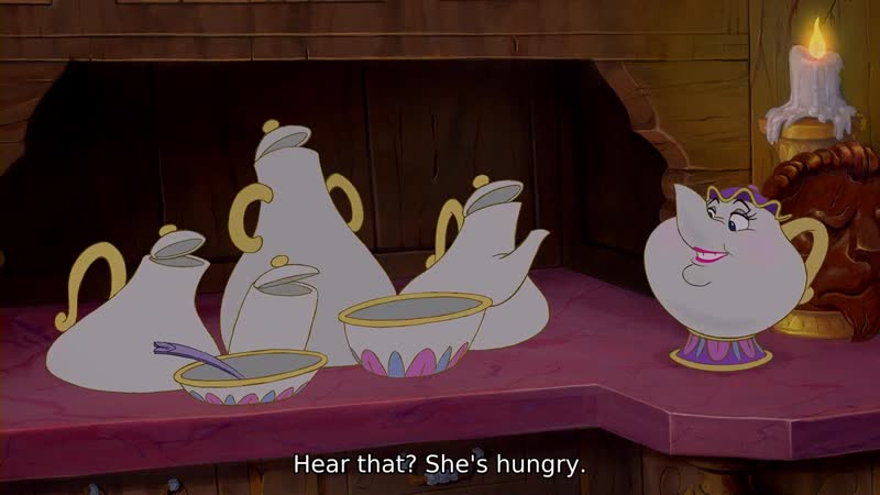 -I am a little hungry. -You are? Hear that? She's hungry.