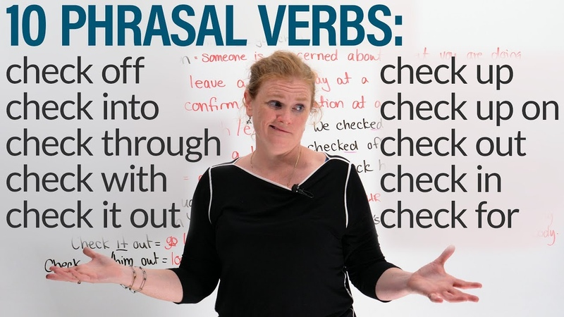 10 Phrasal Verbs with CHECK: check in, check out, check for...