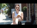 Emma Roberts And Friend Lunch In Leggings And Sports Bras