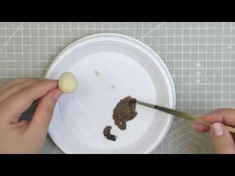 МК перепелиное яйцо из клея и фоамирана
