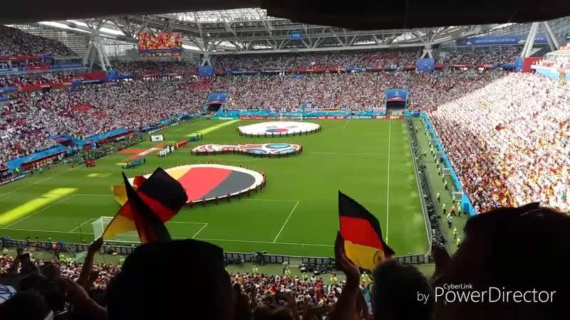 Чемпионат мира по футболу 2018 Группа F Корея-Германия 2:0 Kazan Arena 27.06.18 Гимн