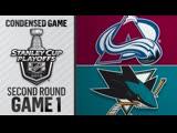 Colorado Avalanche vs San Jose Sharks R2, Gm1 apr 26, 2019 HIGHLIGHTS HD