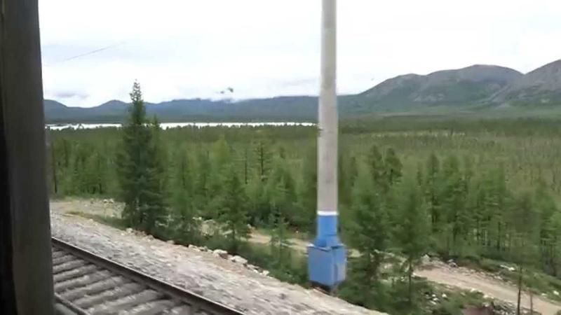 БАМ из окна поезда.Новая Чара-Хани.Часть4.Подьём в Мурурин.