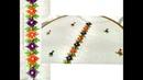 Beautiful Placket Hand Embroidery Work for Kameez Kurti Border for Sari Dupatta