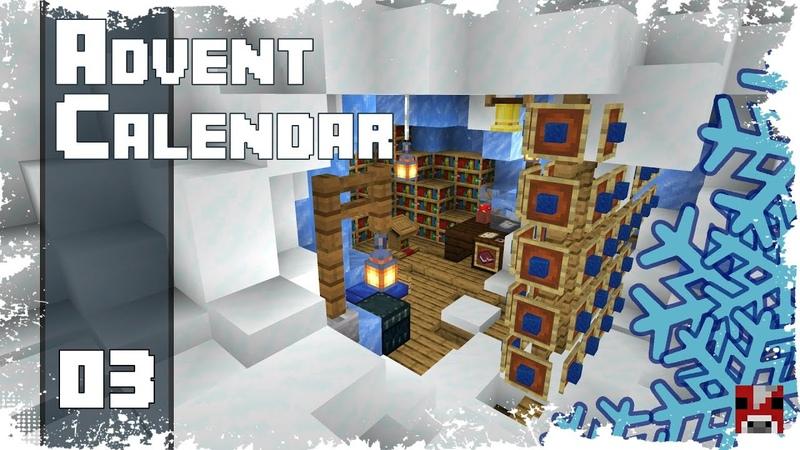 Minecraft Timelapse Advent Calendar - 03 - ПЕЩЕРА ВОЛШЕБНИКА