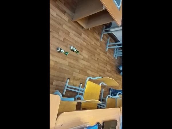Детский центр робототехники Умник - скоростные гонки между Богомолом, Божьей коровкой и Акулой-молот