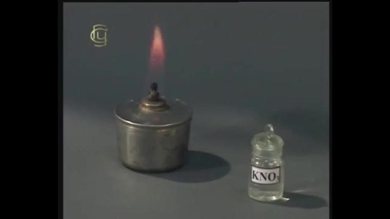Окраска пламени солями щелочных и щелочноземельных металлов