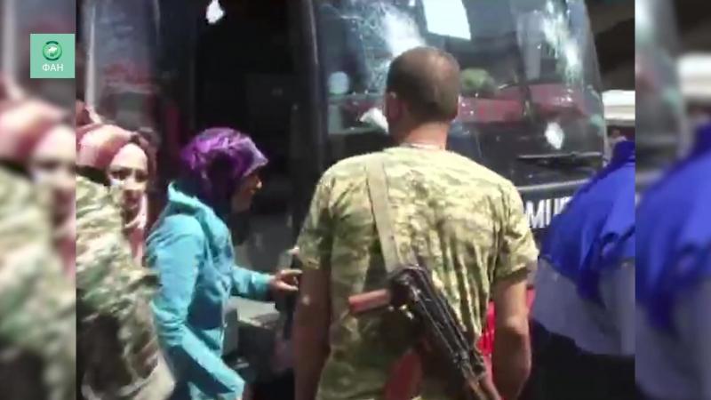 Сирия ФАН публикует видео прибытия автобусов из Идлиба в Алеппо