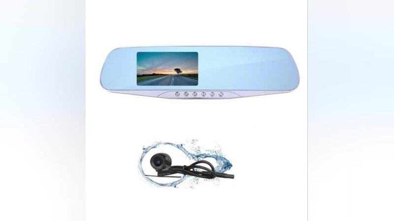 Dual Lens Car Dvr Camera Rearview Mirror FHD 1080P night version
