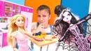 Draculaura Collector Barbienin ev arkadaşı oluyor. Monster High ve Barbie oyunu! Kız oyuncakları