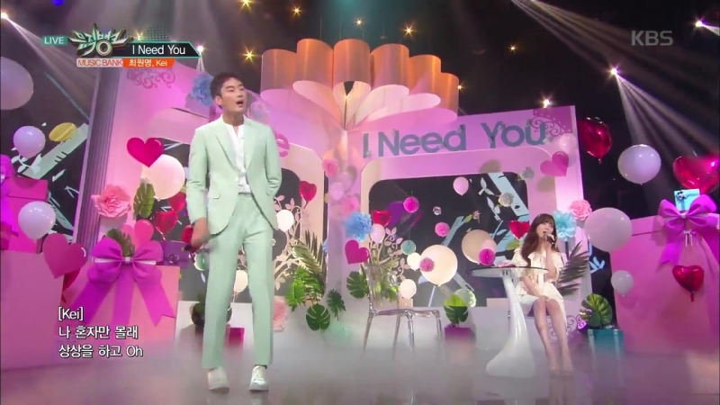 Choi Won Myeong x Kei - I Need You @ Music Bank 180615