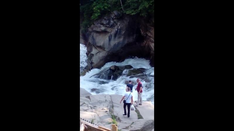Карпаты яремча водопад