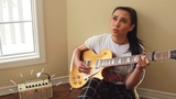 REX ORANGE COUNTY BEST FRIEND (electric guitar cover by annie green) with lyricschords