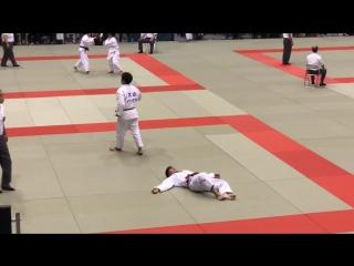 Шикарный подхват от Гоки Маруяма против Рики Накая
