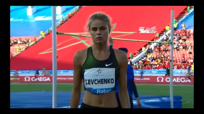 Levchenko Yuliya 🇺🇦 Юлия Левченко (1.94m) заняла 2-е место на этапе Бриллиантовой лиги в Раббате