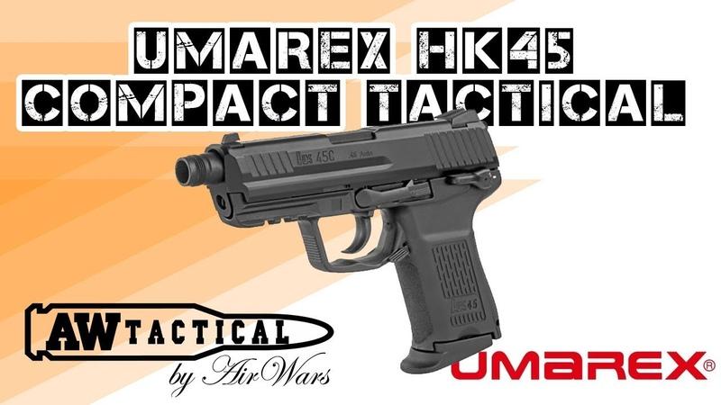 Страйкбольный пистолет UMAREX VFC HK45 COMPACT TACTICAL SA3-HK45C-BK01