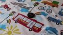 Поплин для детского постельного белья Транспорт CottonEkb96