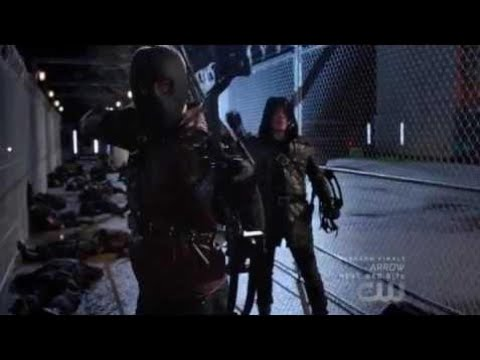 Arrow - 5X22 Oliver Malcolm Merlyn Vs Argus Agents. Prometheus Escapes.