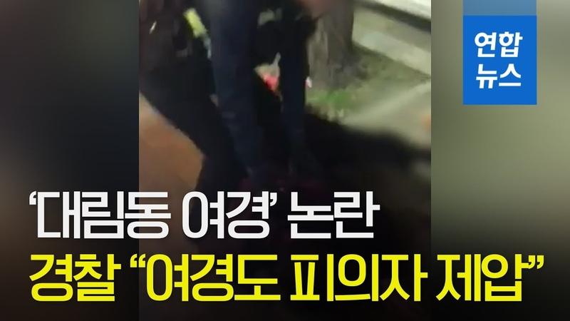 대림동 여경 논란에 경찰 사실과 달라…여경도 피의자 제압 연합뉴스 (Yonhapnews)