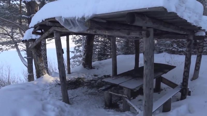 2 2 Зимний лыжный поход по Мане Часть 2 Сгоревшая изба зимник