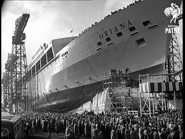 Barrow-In-Furness Royal Launch Aka Launching Of Oriana (1959) | British Pathé
