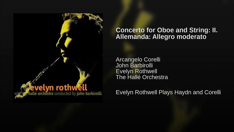 Concerto for Oboe and String: II. Allemanda: Allegro moderato