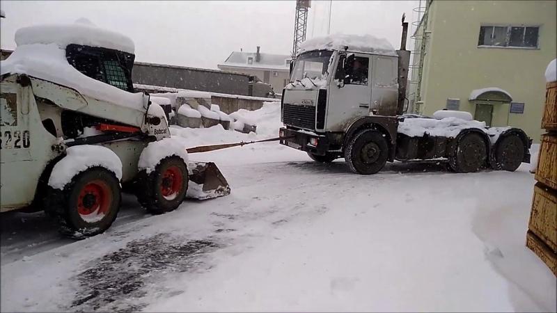 ЗИМНЯЯ СОЛЯРА задушила бобика Bobcat diesel froze