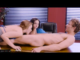 Michael Vegas & Angela White & Lena Paul [ In the office &  Big boobs / Milkings, boobs, With the plot, Cumshot in mouth, Ri