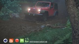 HoudiniC4DRedshift - Jeep Driving Through Mud