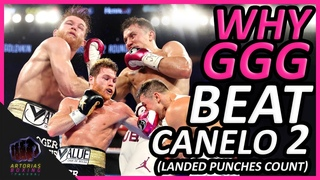 Film Study: Why Golovkin Beat Canelo 2 (Landed Punches Count) #CaneloGGG2