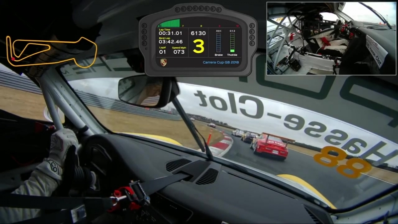 Porsche Carrera Cup GB - Thrilling overtakes