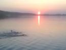 Черкассы заход сонця на Днипре