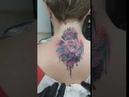 перекрытие тату знака зодиака цветами!