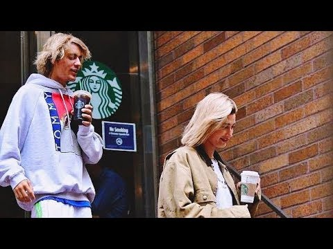 Justin Bieber and Hailey Baldwin spotted in a Starbucks in New York. (June 13, 2018) • Photoset